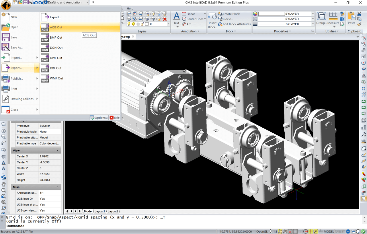Compatible CAD Software for  DWG files - CMS IntelliCAD - In detail