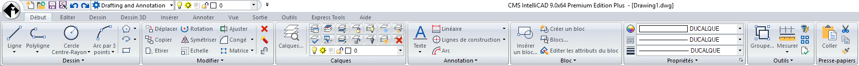 CMS IntelliCAD French user interface