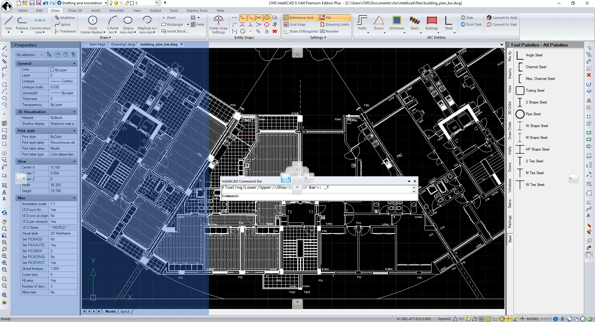 Compatible CAD Software for  DWG files - CMS IntelliCAD - Command